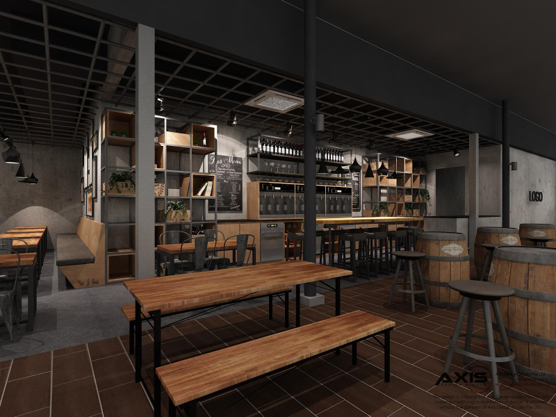 Bar Bistro 3D Drawing