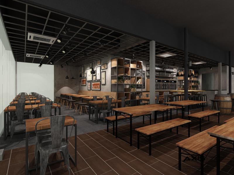 Bar Bistro 3D Drawing Storefront