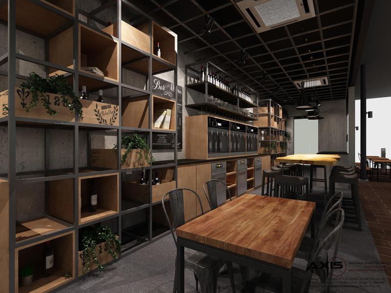 Bar Bistro 3D Drawing - Seating